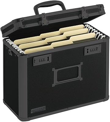 Vaultz® Locking Personal File Tote, Letter, Tactical Black (VZ00310)