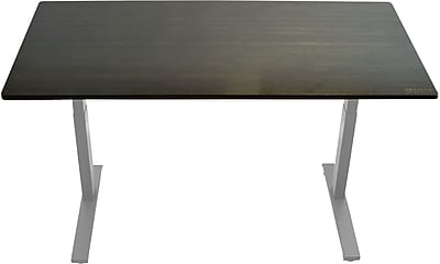 ... Electric Adjustable Height Standing Desk With Black Bamboo Desktop Gray  Frame,. Https://www.staples 3p.com/s7/is/