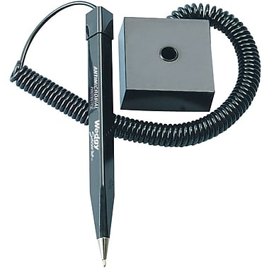 MMF Industries™ Wedgy Secure™ Pen With Square-Style Base, Black