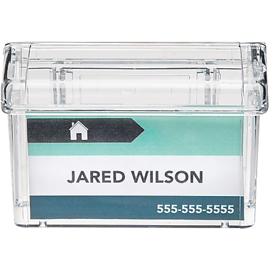Acrylic business card holder deflecto grab a card outdoor business card holder reheart Images