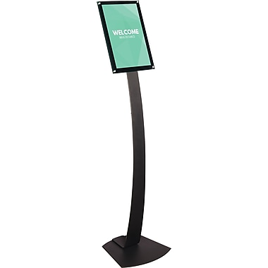 Deflecto® Oversize Contemporary Sign Stand, 16-1/2