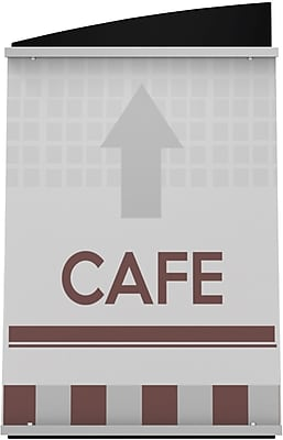 Deflect-O® Interior Image Sign Holders, 7Hx5