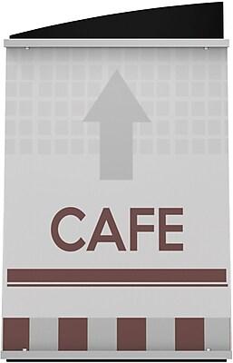 Deflect-O® Interior Image Sign Holders, 10-3/8H x 7-5/8
