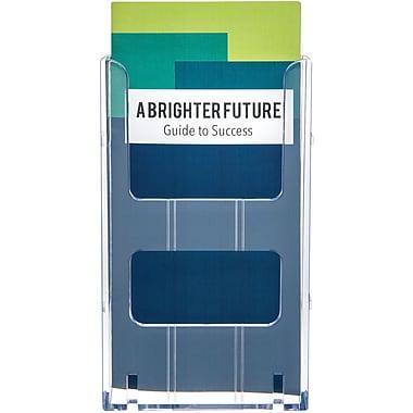 Deflecto® Lit Loc Interlocking Display System Plastic Leaflet Holder , 8
