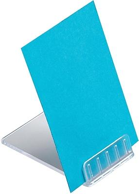 Deflecto® Angled Tabletop Plastic Sign Holder, 0.5