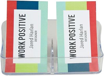 Deflecto® Single 2 Pocket Portrait Business Card Holder (70401RT)