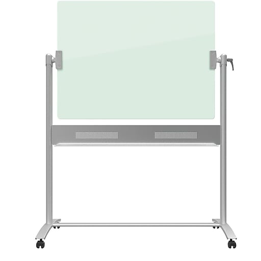quartet infinity glass dry erase board presentation easel magnetic