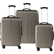 Staples® ABS 3 Piece Luggage Set, Gray (51459)