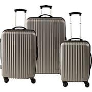 Staples® ABS 3 Piece Luggage Set, Gray (51459)