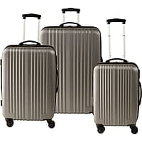 Deals on Staples ABS 3 Piece Luggage Set 51459