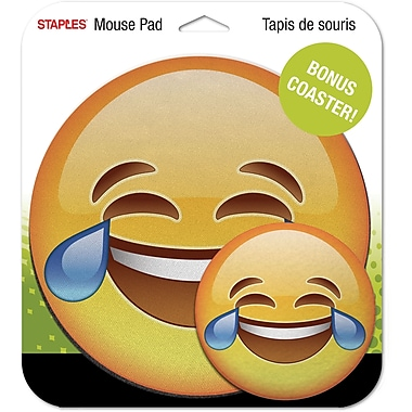 Staples Emoji Mouse Pad, Tears of Joy
