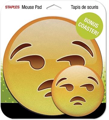 Staples Emoji Mouse Pad, Unamused Face
