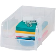 Staples® Small Modular Stacking Bin, Clear (51055)