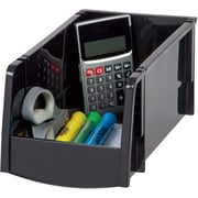 Staples® Medium Modular Stacking Bin, Black (51058)