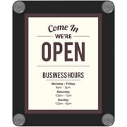 "Deflecto® Plastic Double Sided Window Display with Suction Cups , 11"" x 8.5"""