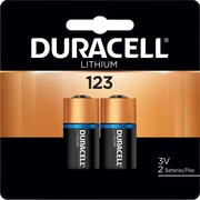 Duracell® 123 Lithium Battery, 2/Pack