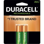 Duracell® Rechargeable NiMH Batteries with Duralock Power Preserve™ Technology, AA, 2/Pack (80232284)