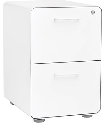 Poppin White Stow 2-Drawer File Cabinet (100413)