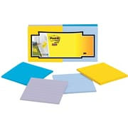 """Post-it® Super Sticky Full Adhesive Notes, 3"""" x 3"""", New York Collection, Lined, 12 Pads/Pack (F330-12SSAL)"""