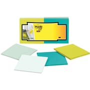 """Post-it® Super Sticky Full Adhesive Notes, 3"""" x 3"""", Bora Bora Collection, 12 Pads/Pack (F330-12SSFM)"""