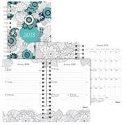 "2018 Blueline® 8"" x 5"" DoodlePlan™ Weekly/Monthly Coloring Planner (C2910.01)"