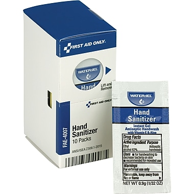 First Aid Only® SmartCompliance Refill Hand Sanitizer Packets, 10 Per Box (FAE-4007)