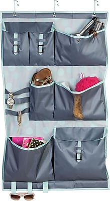 Honey Can Do Over the Door Back to School 7-Pocket Organizer, Mint Sprinkle (BTS-01838)