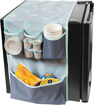 Honey Can Do Back to School 7-Pocket Mini Fridge Caddy, Mint Sprinkle (BTS-01840)