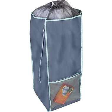 Honey Can Do Back to School Laundry Hamper with Carrying Straps, Mint Sprinkle (BTS-01842)