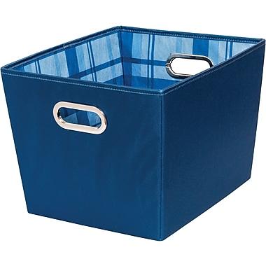 Honey Can Do Back to School Medium Storage Bins, Blue Flannel, 2-Pack (BTS-01843)