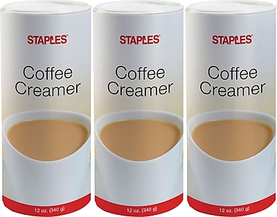 Staples Non-Dairy Powder Coffee Creamer Value Pack, 3/Pack