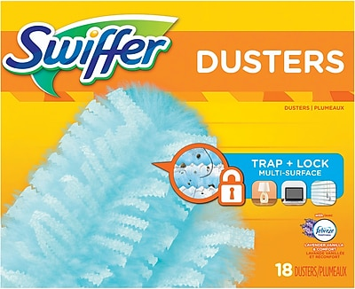 Swiffer 180° Dusters, Multi Surface Refills with Febreze Lavender Vanilla & Comfort Scent, 18/CT