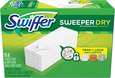 Swiffer Sweeper Dry Sweeping Pad, Unscented, 52/CT