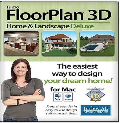 TurboFloorPlan Home & Landscape Deluxe 2015 for Mac (1 User) [Download]