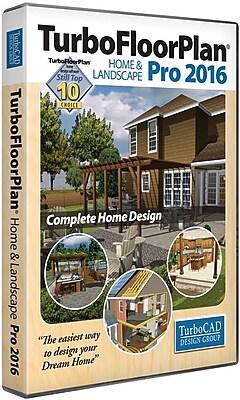 TurboFloorPlan Home & Landscape Pro 2016 for Windows (1 User) [Download]