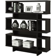 "Monarch Specialties Bookcase, 55""H Cappuccino Modern Style (I 2531)"