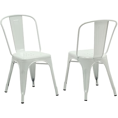 Monarch Cafe Chair Metal Casual / Kitchen White