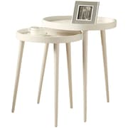 Monarch Nesting Table Set 2 Pcs  White