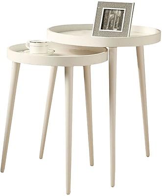 Monarch Nesting Table Set 2 Pcs White
