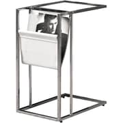 "Monarch Magazine Holder 19""L x 12""W x 24""H Metal White / Chrome"