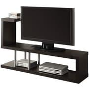 "Monarch Wood 35.5""H x 60""W x 15.75""D TV Console, Cappuccino"