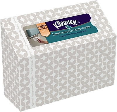 Kleenex® Hand Towels, 1-Ply, 60 Towels/Box (38586)