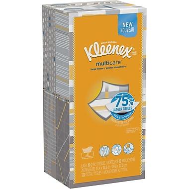 Kleenex multicare Facial Tissues; 80 Tissues per Box, 4 pack