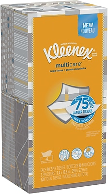 Kleenex multicare Facial Tissues; 80 Tissues per Box, 4 pack
