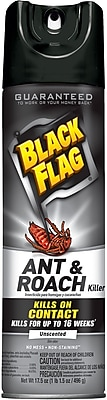 Black Flag® Ant & Roach Killer, Unscented, 17.5 Oz. Spray, EA