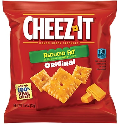 Cheez-It Cheese Cracker, Reduced Fat, 1.5 Oz, 60/Ct