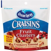 Ocean Spray Craisins Fruit Clusters, Cranberry Almond, 5 Oz., 12/CT