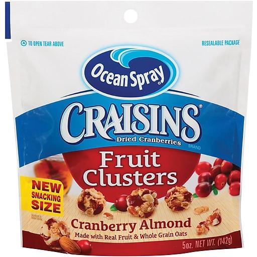 Ocean Spray Craisins Fruit Clusters, Cranberry Almond, 5 Oz., 12/CT