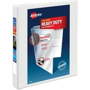 "Avery® Heavy-Duty View Binder with 1"" One Touch EZD™ Rings, White, 12/Pk"