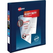 """Avery® 1"""" Heavy-Duty View Binder with One Touch EZD® Rings, Navy Blue (79809)"""